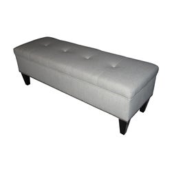 Brooke Loft Tufted Magnolia Storage Bench