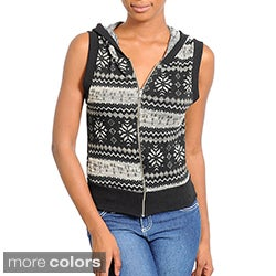Stanzino Women&#39;s Sleeveless Hooded Top