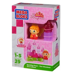 Mega Bloks Lil Princess Sparkling Tower Playset