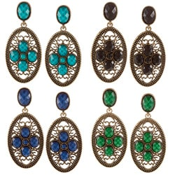 Amrita Singh Goldtone Resin Motif Dangle Earrings