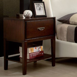 Neo Rectangle Espresso Accent Table Nightstand