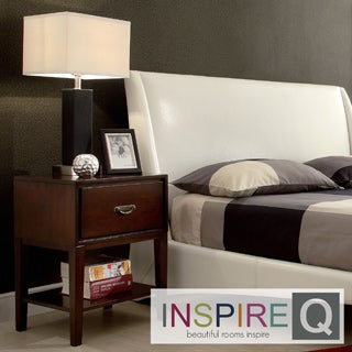 Inspire Q Neo Rectangle Espresso Accent Table Nightstand