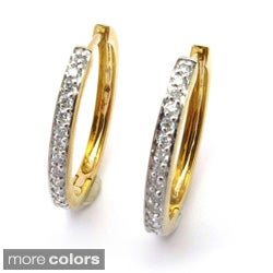 Sonia Bitton 14k Gold 1/3ct TDW Designer Diamond Hoop Earrings (G-H, SI1-SI2)