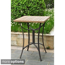 Barcelona 32-inch Square Resin Wicker Outdoor Bar Table
