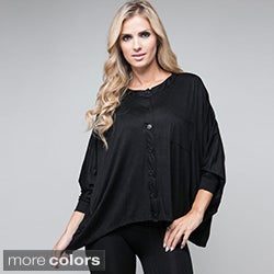 Stanzino Women's Button Front Dolman Shirt