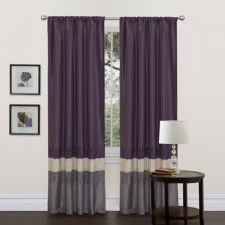 Mia Grey/Purple 84-inch Curtain Panel Pair