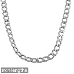 Fremada 10-karat White Gold 5.3mm Curb Chain (20-22 inch)