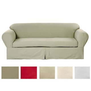 Classic Two-piece Twill Loveseat Slipcover