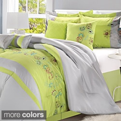 Nori Embroidered 8-piece Comforter Set