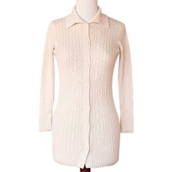Alpaca 'Inca Ivory' Long Cardigan Sweater (Peru)
