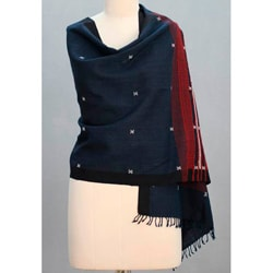 Wool 'Narmada Night' Shawl (India)