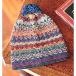 Alpaca 'Indigo Winter' Hat (Peru)