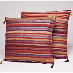Set of Two Multi-Stripe Throw Pillows (Morocco)