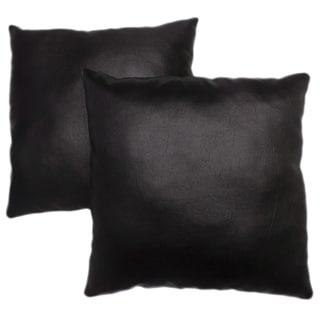 Abbyson Living Charmant 18-inch Black Decorative Pillows (Set of 2)
