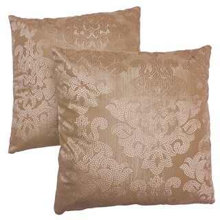 Abbyson Living Eternity 18-inch Gold Decorative Pillows (Set of 2)