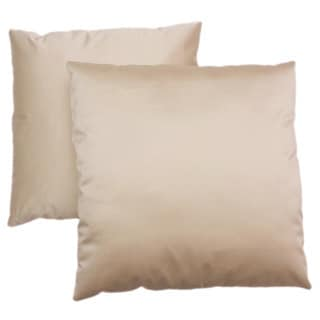 ABBYSON LIVING Bliss 18-inch Cream Decorative Pillows (Set of 2)