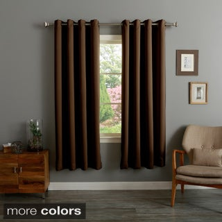 Lights Out Grommet Top Thermal Insulated 72-inch Blackout Curtain Panel Pair