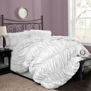 Lush Decor Venetian 4-Piece White Comforter Set