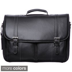 Johnston &amp; Murphy Leather Flap Over Briefcase