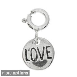 Sterling Silver Round Message Charm