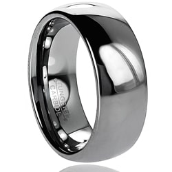 Daxx Men's Tungsten Carbide Polished Domed Band (8 mm)