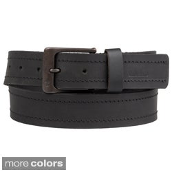 Timberland Men's Casual Topstitched Genuine Leather Belt
