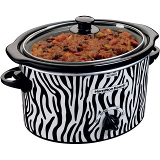 Hamilton Beach 33238 Zebra Print 3-quart Slow Cooker