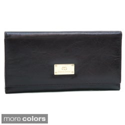 Anais Gvani Women's Classic Genuine Leather Tri-Fold Wallet