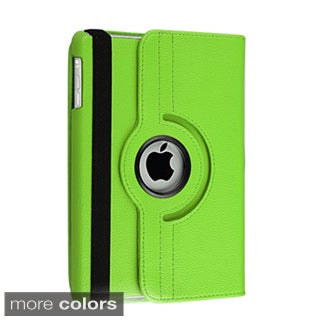 BasAcc Black Leather Swivel Case for Apple iPad Mini 1/ 2 Retina Display