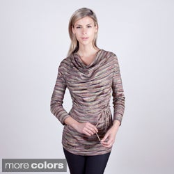 Colour Works Women&#39;s Drape Neck Tunic
