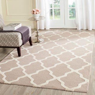 Hand-tufted Safavieh Moroccan Cambridge Beige/ Cream Wool Rug