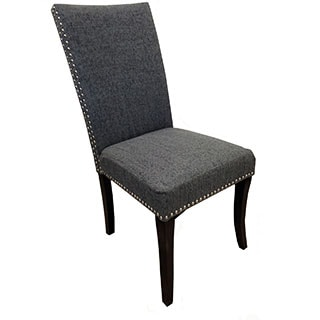 Charcoal Grey Nailhead Accented Side Chairs (Set of 2)