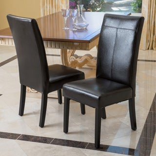 Christopher Knight Home Lissa Black Polyurethane Dining Chair (Set of 2)