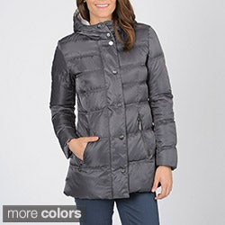 Vince Camuto Women&#39;s Zip Front Down Coat with Hood