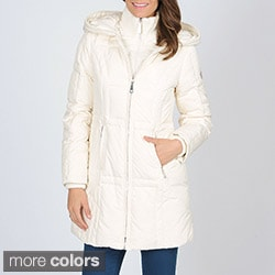 Vince Camuto Women&#39;s Double-zip Down Coat with Hood