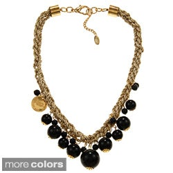 Amrita Signh Goldtone Tezcat Bib Necklace