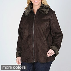 Mo-Ka Women&#39;s Plus Faux Shearling Jacket