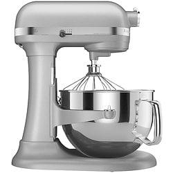 KitchenAid Pro Metallic Chrome 600 6-Quart Bowl-Lift Stand Mixer (Refurbished)