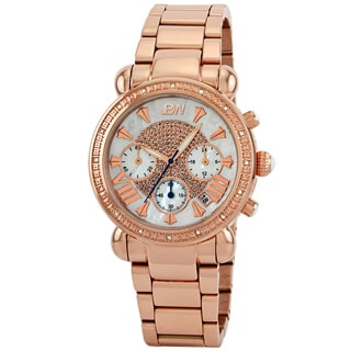 JBW Women's Rosetone Chronograph Stainless Steel Diamond Watch