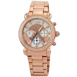 JBW Women's Rosetone Stainless Steel Chronograph Diamond Watch