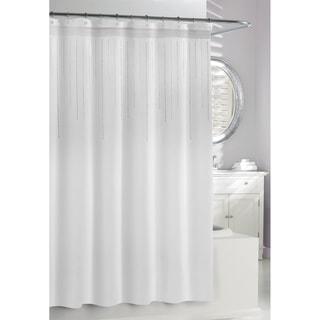 White Rhinestones Shower Curtain