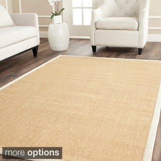 Safavieh Casual Natural Fiber Maize and Wheat Border Sisal Runner