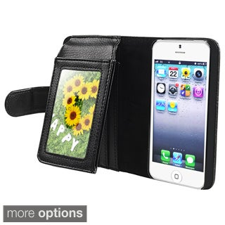 BasAcc Leather Case with Wallet for Apple iPhone 5/ 5S