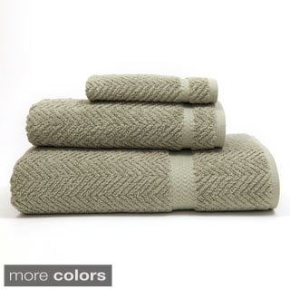 Authentic Herringbone Weave Hotel and Spa Turkish Cotton 3-piece Towel Set
