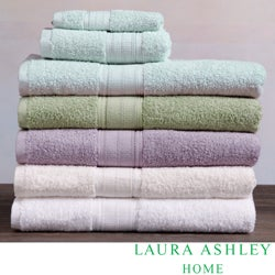 Laura Ashley Cotton Solid 6-piece Towel Set