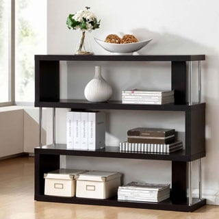 Baxton Studio Javier Modern Zig Zag Low Display Shelving