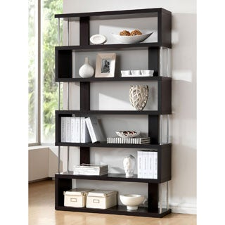 Baxton Studio Javier Modern Zig Zag High Display Shelving