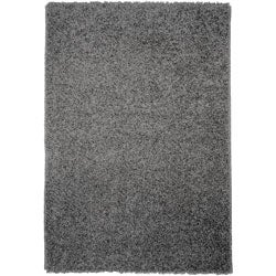 Shag Solid Grey Area Rug (3'3 x 4'7)