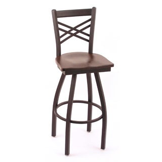 Cambridge 36-inch Cherry Maple Lattice-back Bar Stool