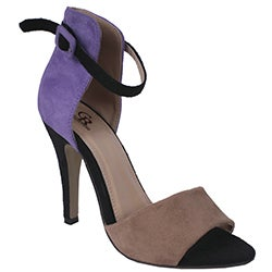 Cape Robbin by Beston Women&#39;s &#39;Oliva&#39; Purple Two-tone Heel